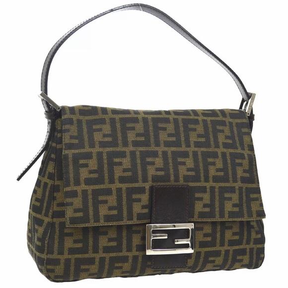 Fendi Handbags - AUTH FENDI ZUCCA TABACCO MAMA BAGUETTE BAG brown
